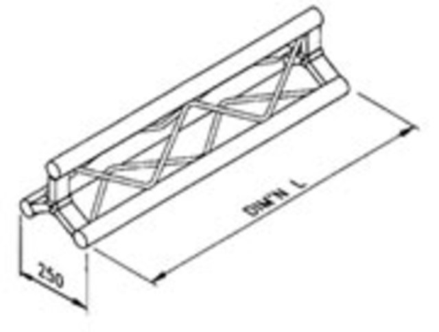 Triangular aluminium truss TT series: manufactured by Metalworx