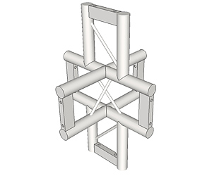 LADDER TRUSS 4-WAY VERTICAL (UPRIGHT) JUNCTION WITH LEG UP, DOWN